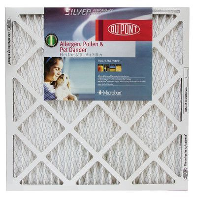 Protect Plus Silver Performance Series Allergen Pollen and Pet Dander Electrostatic Air Filter (Set of 12) Size: