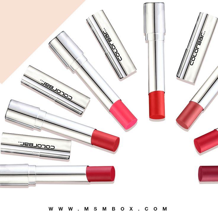 Colorbar  bold lip colors... #makeup #lipcolor #lipstick #msmbox  Available at: https://msmbox.com/
