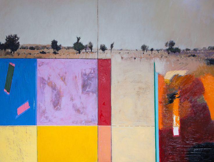First glimpse. 'Satara 1' by Jaco Roux, Oil on canvas, 130 x 170 cm.