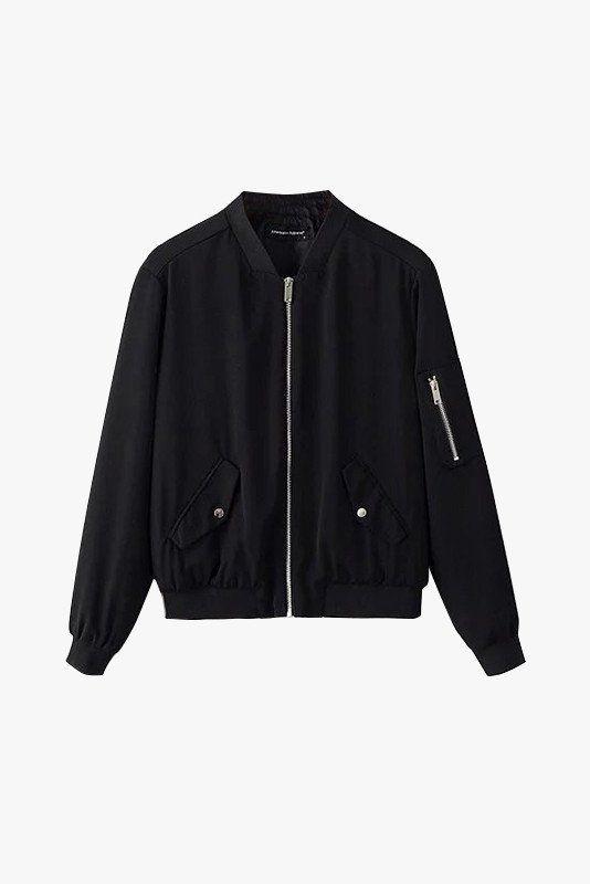 "Size + Fit: - Front zipper, side pockets - Mid low waist fit - US Size: S-2 / M-4 / L-6 - EUR Size: S-34 / M-36 / L-38 - Length: 21.7"" / 55cm - Bust: 41.7"" / 106cm - Model is wearing size small - Meas"