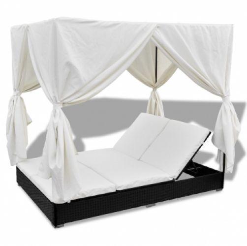 Garden Rattan Furniture Sun Lounger Outdoor Bed Patio Seat Recliner Daybed Black in Garden & Patio, Garden & Patio Furniture, Loungers & Recliners | eBay!