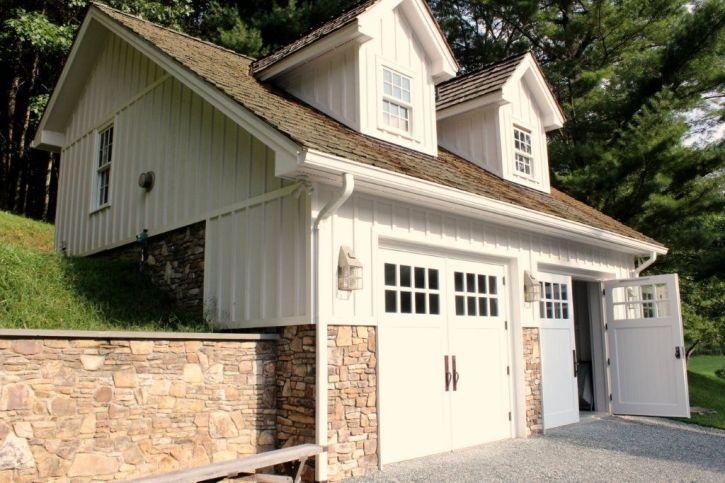 1000 images about garage addition on pinterest carriage for Hillside garage doors