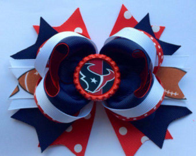 NFL Houston Texans hair bow