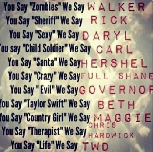 You Say Sexy We Say Daryl! TWD. The Walking Dead. Daryl Dixon. Rick Grimes. Carl Grimes. Hershel Greene.