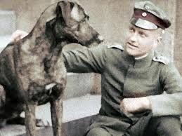 """The greatest fighter pilot of WWI, Manfred von Richthofen, kept a few dogs. But his favorite seems to have been a huge Great Dane. The dogs name was Moritz and the Red Barron was quoted as having said of his four legged companion """"The most beautiful..."""