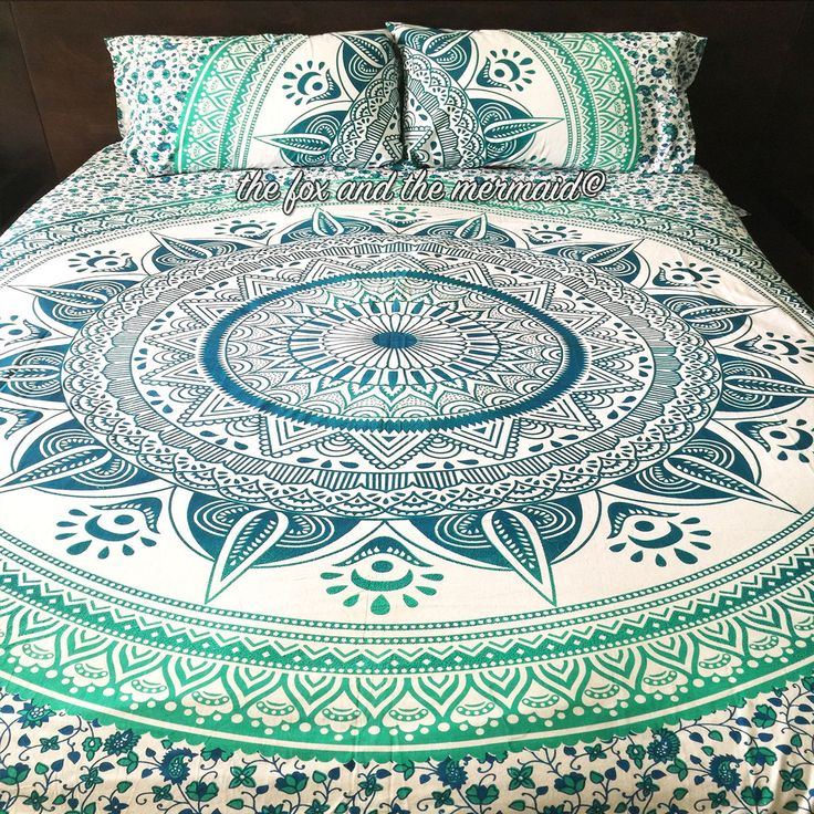 Emerald Ombre Tapestry Duvet Cover