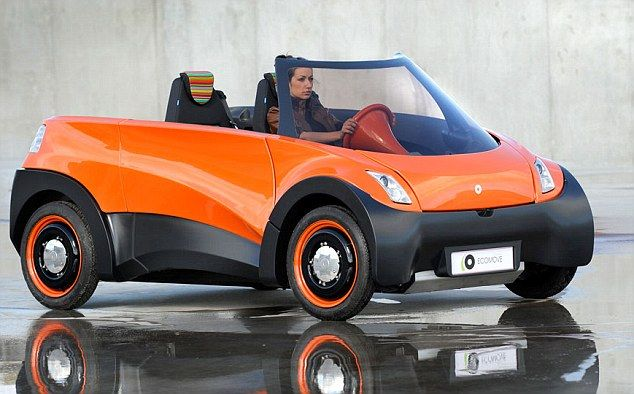 The QBEAK electric car which promises to go 500 miles before the battery needs recharging