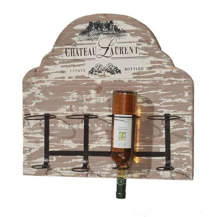 Avem un produs care merge perfect pe peretele dumneavoastră din bucătărie: suportul pentru sticle din gama Chateau. Suportul este conceput pentru a fi montat pe perete, este construit din lemn şi metal putând susţine până la patru sticle, iar ca şi dimensiuni lungimea lui este de 55 cm în timp ce înălţimea este de 51 cm. Finisajul antichizat utilizat în crearea acestui produs îi conferă un puternic aer vintage.