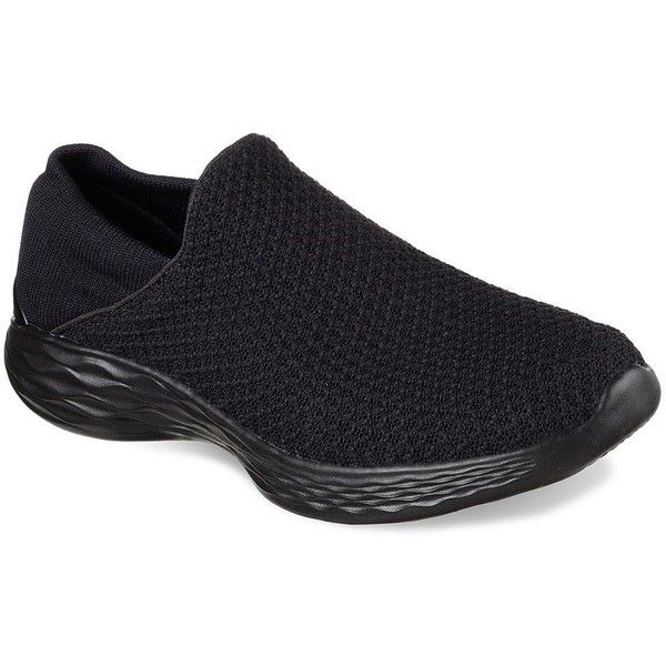 Skechers YOU Women's Slip-On Sneakers ($65) ❤ liked on Polyvore featuring shoes, sneakers, oxford, round cap, skechers shoes, slip on trainers, round toe shoes and slip on shoes