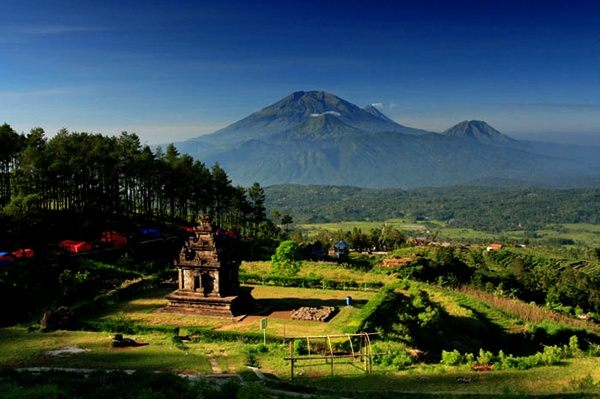 Gedong Songo temple ... central Java island, Indonesia