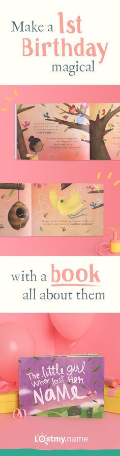 Lost My Name is a beautiful personalized book they'll love aged one…and for years to come. Made by you in moments and delivered anywhere for free, it's helped millions of adults find special first birthday gifts for girls and boys.