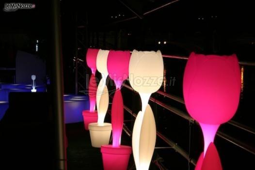Arredamenti di design luminosi per le nozze: original wedding idea