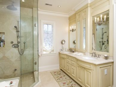 35 best images about crema marfil on pinterest kitchen - Best paint color for crema marfil bathroom ...