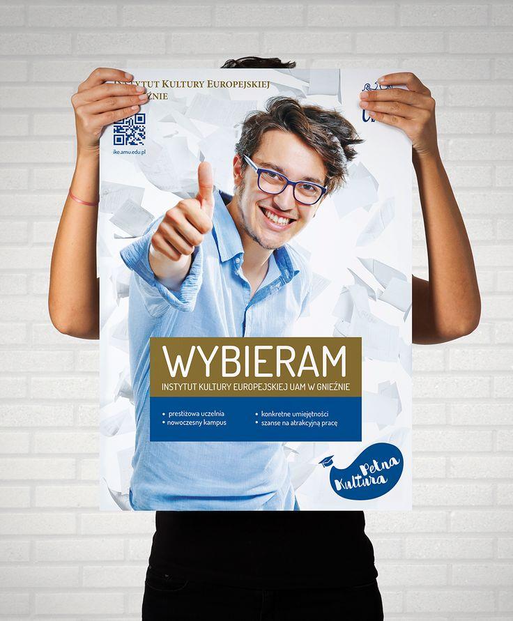 UAM - Instytut Kultury Europejskiej w Gnieźnie / Projekt plakatu promującego Instytut Kultury Europejskiej w Gnieźnie.