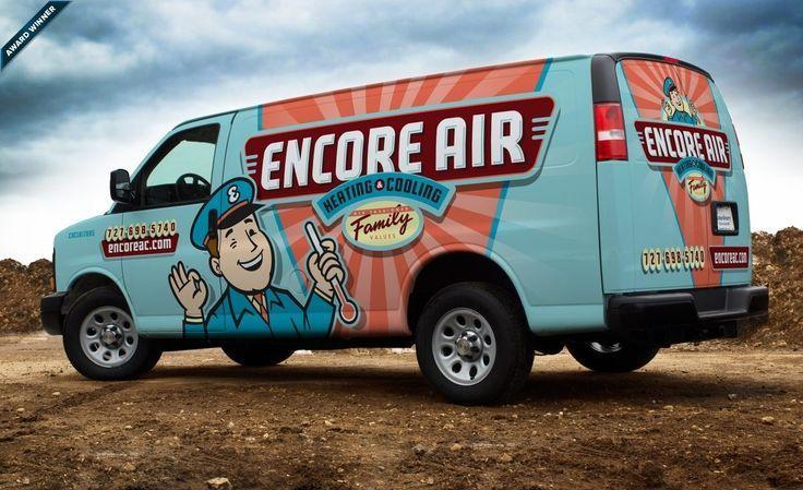 Hvac Vehicle Wrap Design For Encore Air Heating Cooling An Hvac Company Based Car Wrap Design Car Wrap Truck Wraps Graphics