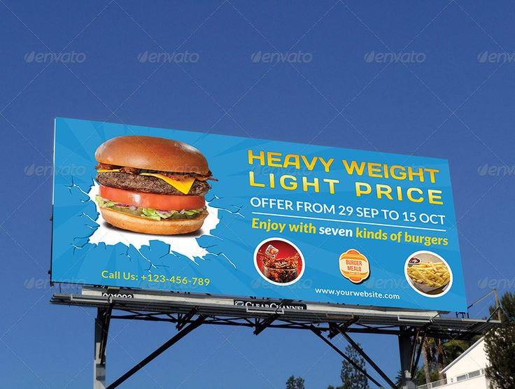 Burger Restaurant Billboard Template Vol.3