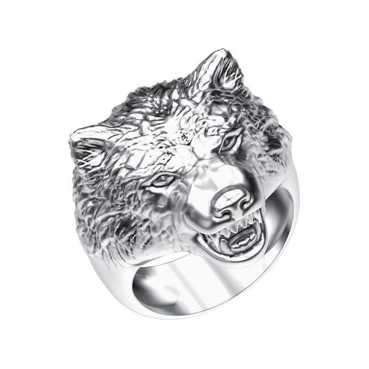 ring 008 wolf 3d model obj 3ds stl 1