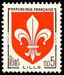 Armoiries de Lille en nouveaux francs Armoiries des villes de France (Cinquième série) - Timbre de 1960