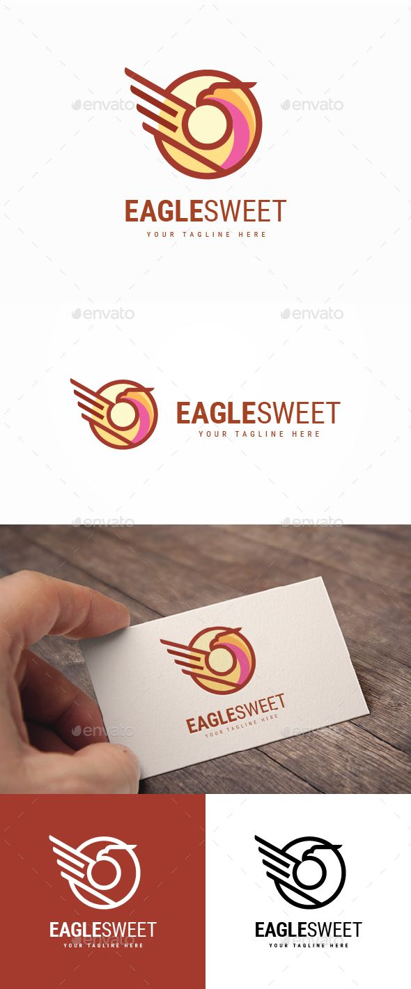 Eagle Sweet Logo Template PSD, Vector EPS, AI Illustrator