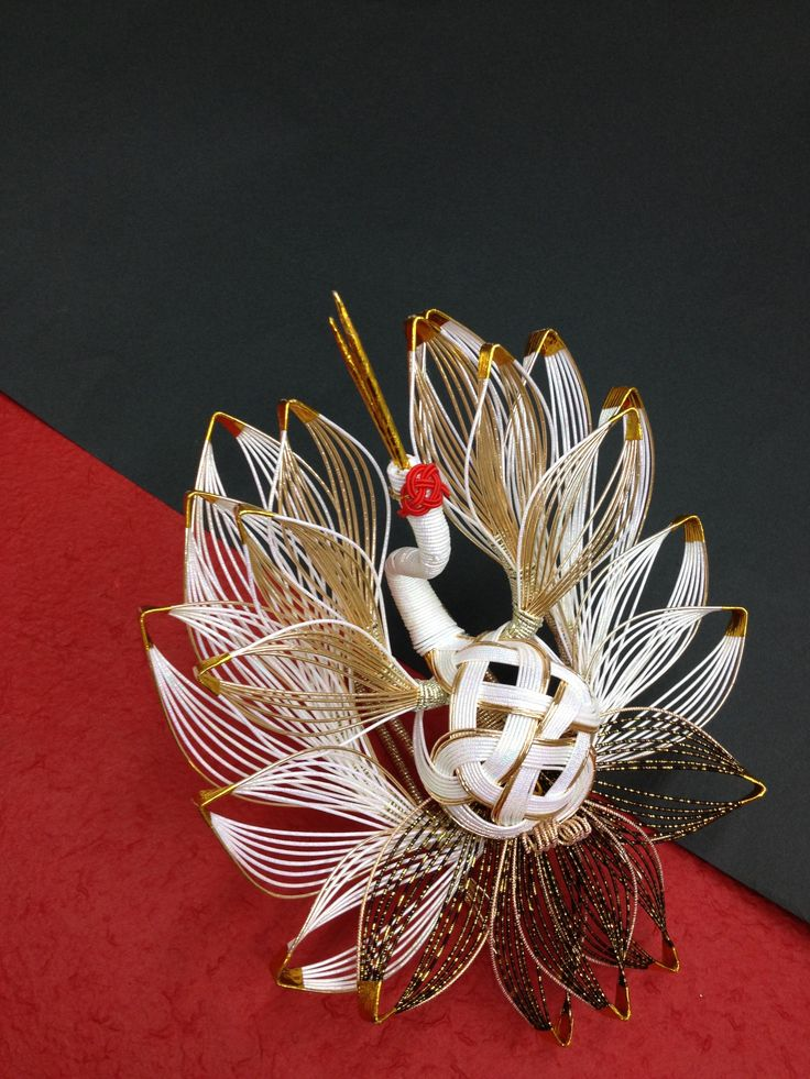 Mizuhiki Crane Bird www.hakatamizuhiki.co.jp