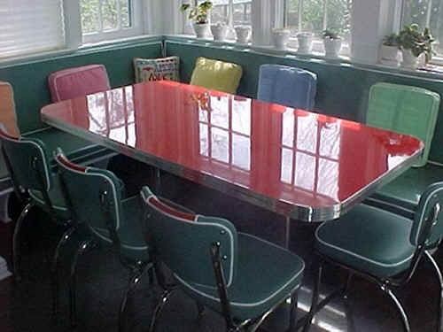 413 best dinette sets images on pinterest vintage kitchen kitchens and retro kitchen tables - Kitchen table booths ...