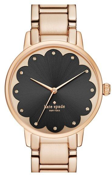 Kate Spade New York 'gramercy' Scalloped Dial Bracelet Watch, 34mm
