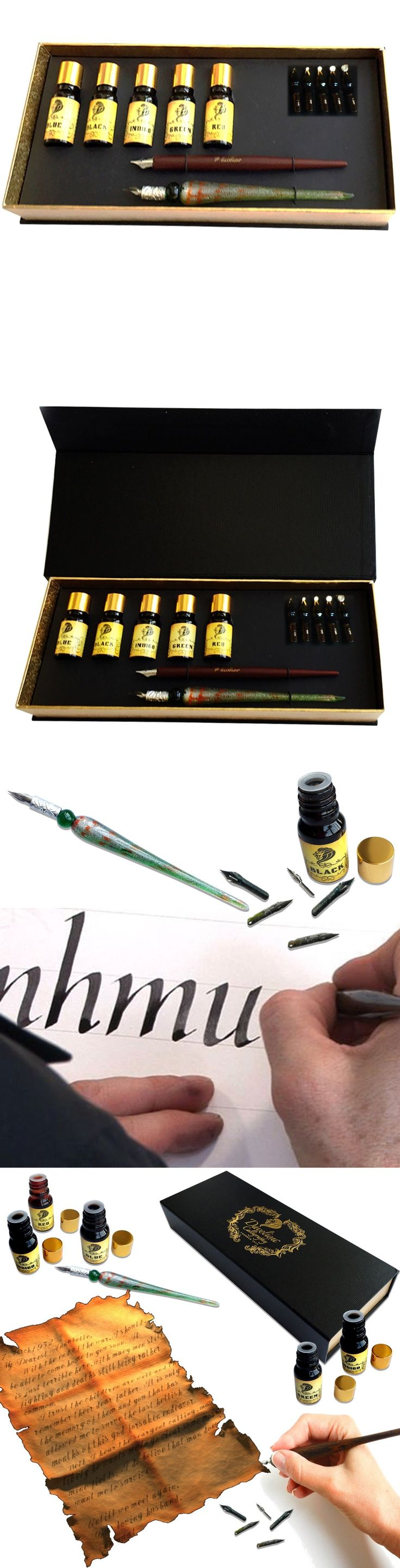 Calligraphy Sets 41203: Calligraphy Pen Gift Set - 12-Piece Kit - Free Glass Pen - 5 Nib 5 Ink Set New! -> BUY IT NOW ONLY: $49.99 on eBay!