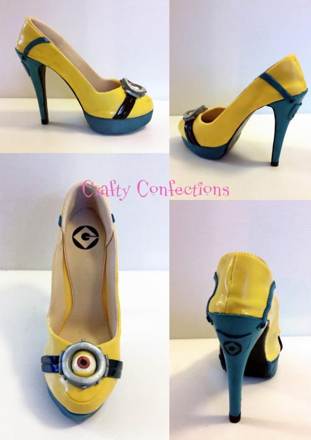 minion shoe just for cake by cope cakes
