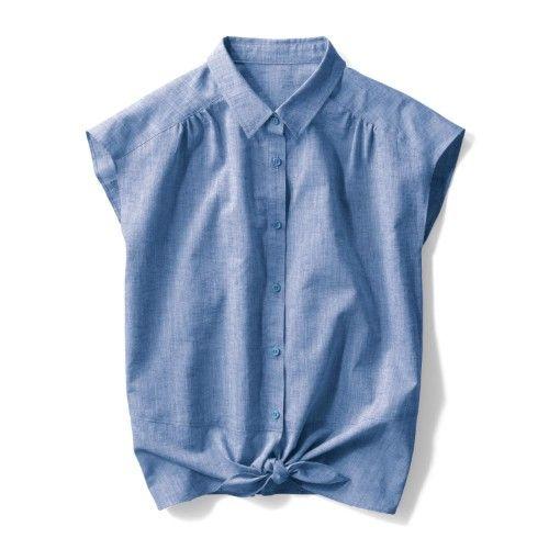 裾絞りシャツ