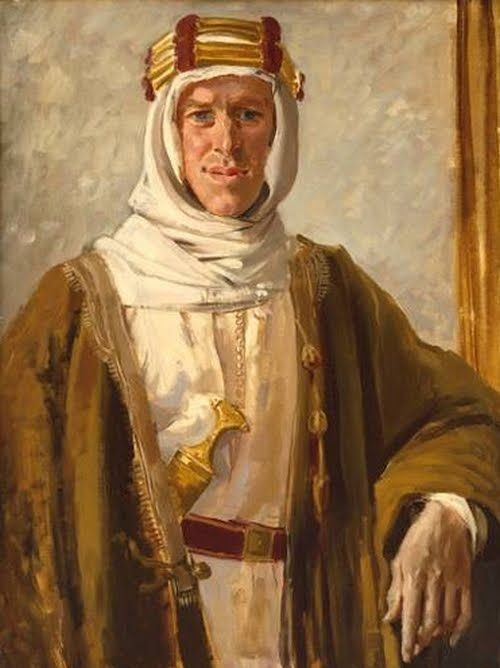 The Augustus John portrait of T. E. Lawrence from 1919.