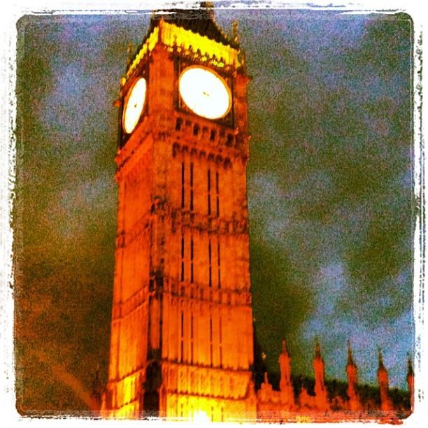 Big Ben, London May 2012, (via instagram)