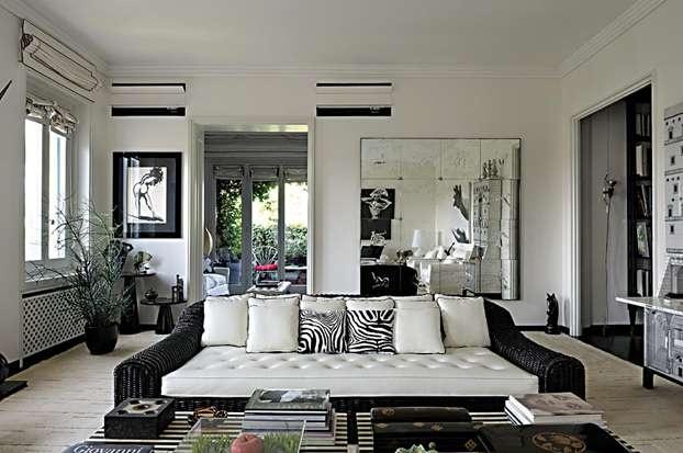 Il salotto di barbara falanga black and white pinterest for Arredare casa in bianco