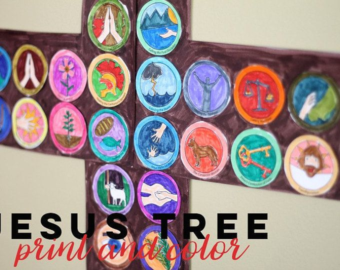 Jesus Tree Lenten Activity Printable Pack//Family Scripture Activity for Lent