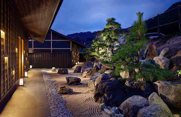 全室オーシャンビューのお部屋 お宿 炭平 景観照明 温泉 日本家屋