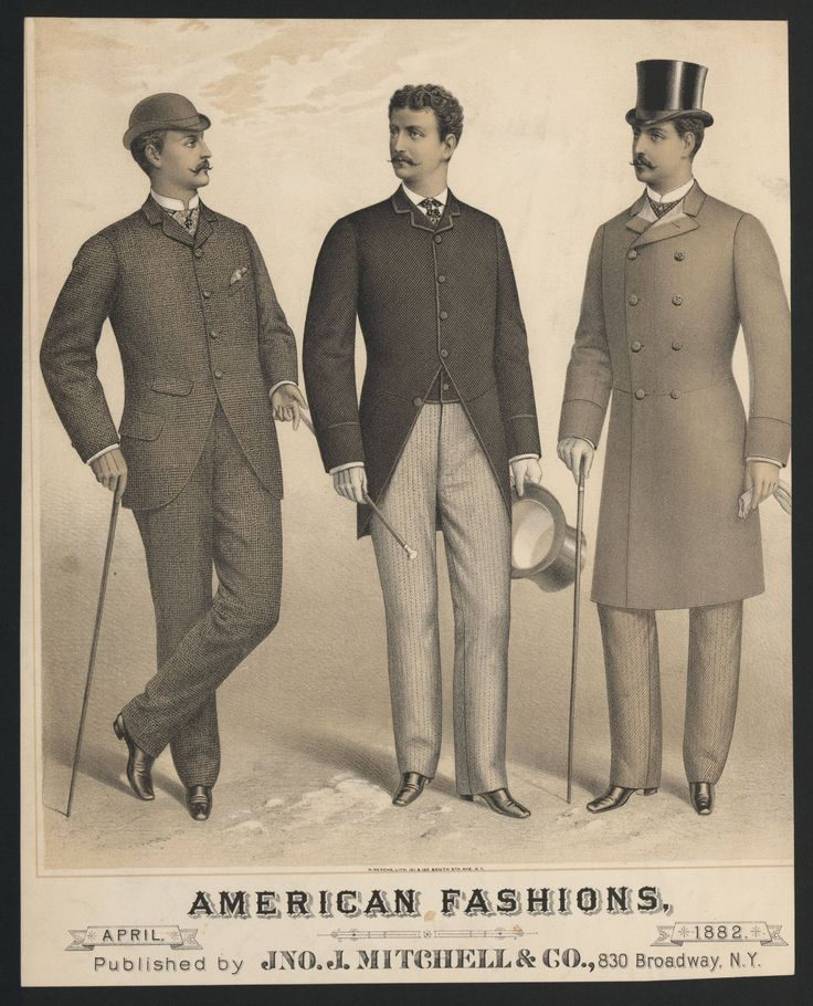 1880s-1890s Men's Clothing And Fashion