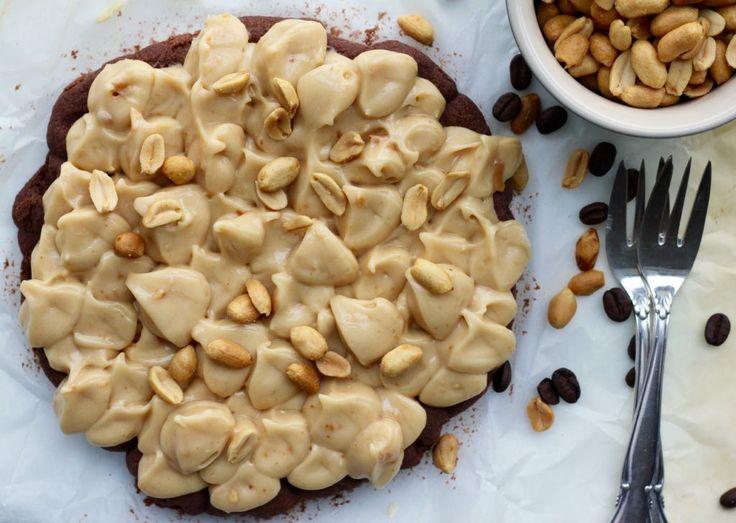 Kaffekage med peanutbutter-creme