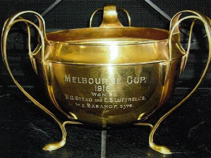 1916 - For the first time a Cup is presented to the owners of the winner of the Melbourne Cup!