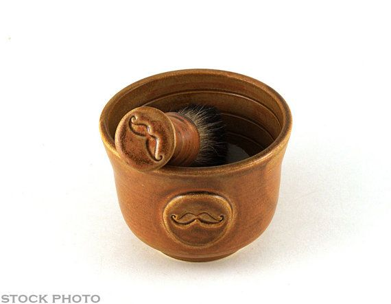 This mustache shaving bowl makes a unique and thoughtful handmade Christmas gift for men!