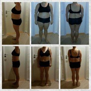 Før/efter billede: 12 ugers kostvejledning og 2 gange personlig træning ugentlig