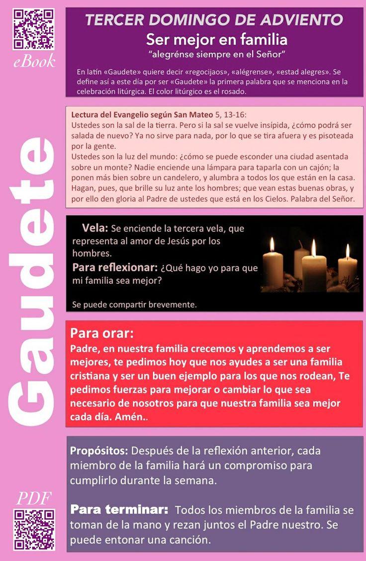Tercer Domingo de Adviento - Ser mejor en Familia - La #reflexión y la #oración  por #Adviento2015 (PDF) http://famv.in/OC-Adviento-pdf ( ebook) http://famv.in/OC-Adviento-ebook