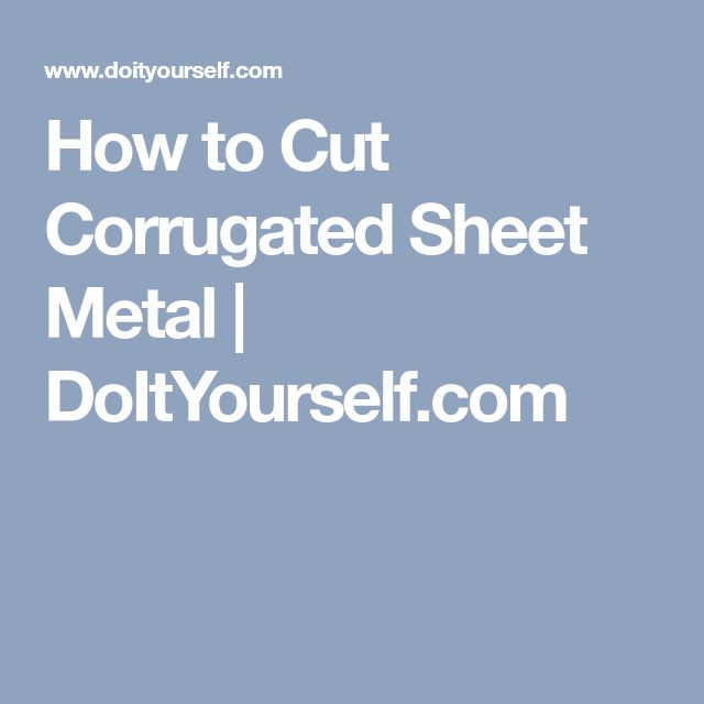 how to cut tin sheets