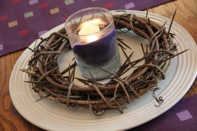 Put this centerpiece on your coffee table and/or dining table to remind you of the Lenten season.