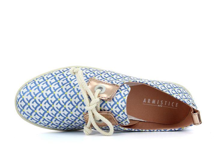 Armistice Stone One Cell Blue - basket toile trendy pour femme