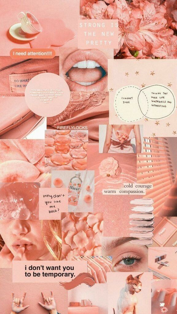 Aesthetic Peach Wallpaper Pinterest