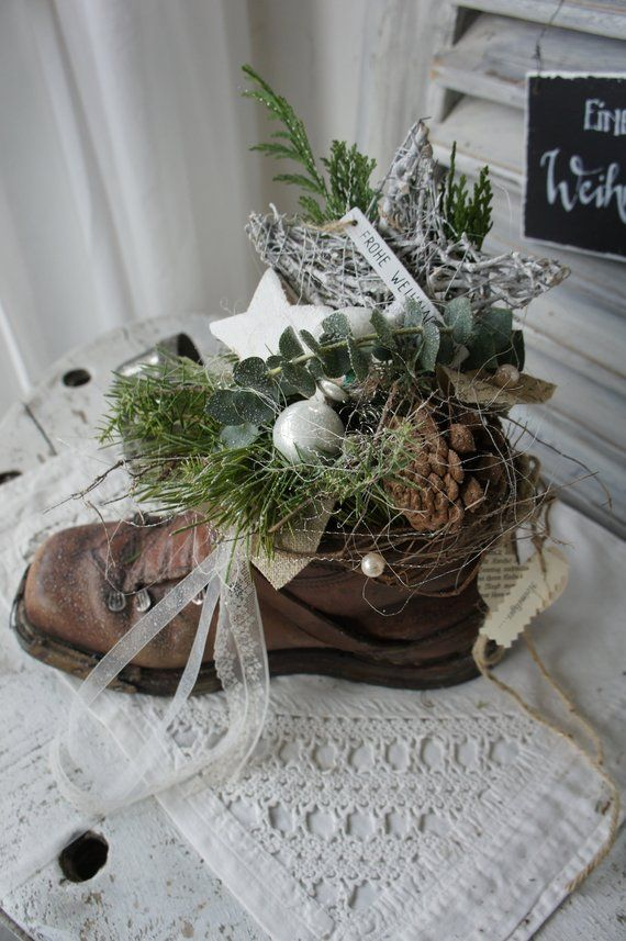 "Shabby Deco ""Christmas Boots …"""