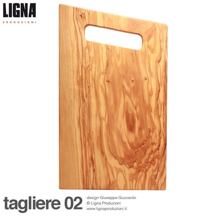 tagliere 02  caratteristiche tecniche:  tagliere realizzato in legno di   ulivo, impregnato con olio di oliva  dimensioni L.33cm P.19cm H.2,8cm  design di Giuseppe Guzzardo  © Ligna Produzioni  www.lignaproduzioni.it