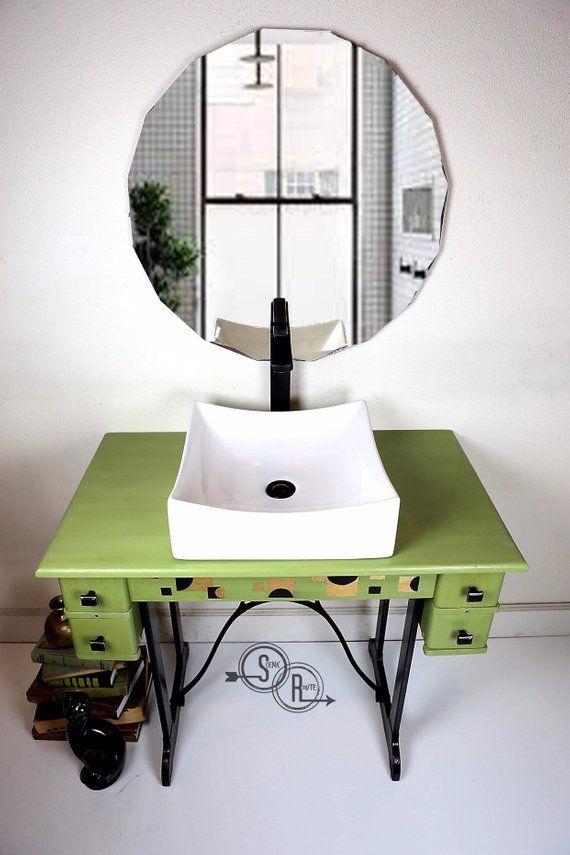 Bathroom Vanity Mid Century Retro Modern Vessel Sink Mid