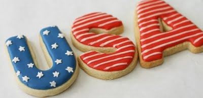 USA Cookies - How perfect would they be for an Olympics Opening Ceremony Party?