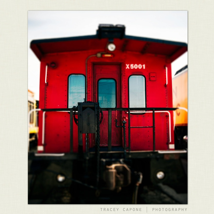 boys room wall decor red caboose train photography