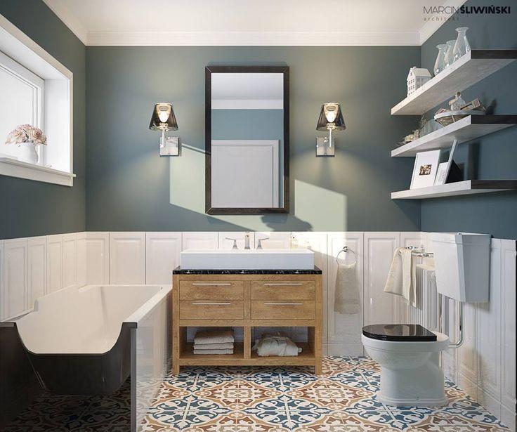 https://www.facebook.com/architectmarcinsliwinski/ bathroom łazienka płytki